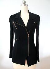 $300 Authentic Moschino Black Motor Cardigan Jacket US 4, France 34, Italy 38