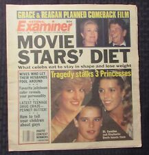 1982 Oct 12 NATIONAL EXAMINER Weekly FN 6.0 Princess Di Caroline Stephanie