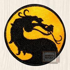 Mortal Kombat Yellow Logo Embroidered Patch Sub-zero Scorpion Raiden Red 9 PS