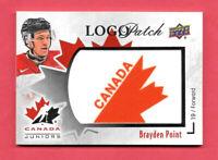 2016-17 Brayden Point Upper Deck Team Canada Juniors Logo Patch - Lightning