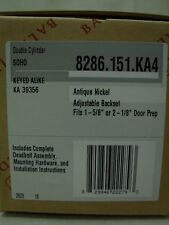 (4) Baldwin 8286.151.KA4 Traditional Cylinder Deadbolt Lock Set - Antique Nickel