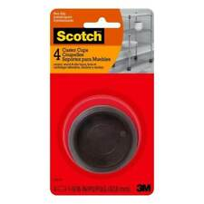 Scotch Caster -Cup Round Hard Brown Plastic 1-11/16in 4pk