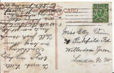 Family History Postcard - Vinn - Willesden Green - London - Ref 2574A