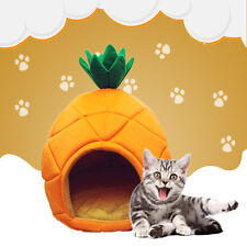 Soft Pineapple Pet Dog Cat Bed House Kennel Doggy Fashion Cushion Pad Mat Nest