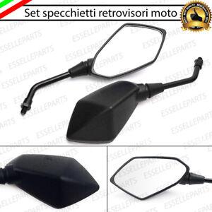COPPIA SPECCHIETTI RETROVISORI NERI MALAGUTI F12 PHANTOM 200 MAX MOTO SCOOTER