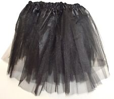 NEW Black net tutu with triple layered skirt kids fancy dress halloween