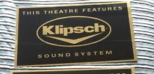 Klipsch Sound System Cinema Sign