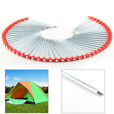 50 X Metal Tent Pegs Hard Ground Standing Camping Awning Pegs Heavy Duty Top