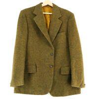 Harris Tweed 100% Laine Marron Veste Blazer Taille US / Eu 42 Eur