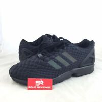 New adidas Originals Mens ZX Flux XENO Embossed Shoes Triple Black zxz S78350