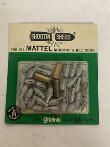 Mattel Shootin Shells New On Card Greenie Caps Shell Rare Blister Pack NOS
