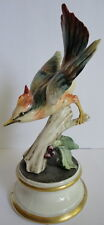 Italian Art Pottery 1930's Colorful Jay Bird Figurine Guido Cacciapuoti Gorgeous