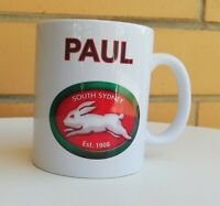 Personalised Mug - NRL South Sydney Rabbitohs - Your name on the TOP