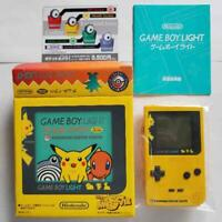 Game Boy Light Console Pikachu Pokemon Center Edition Boxed Japan USED rare
