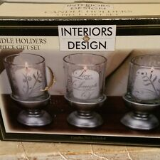 Decorative Candle Holder Set 3 Piece Kit Home Decor Long Table Centerpiece New