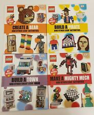 5 Books Lego Mighty Mech, Build A Pirate, Town and Create A Bear Other Activity