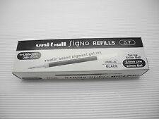 12pcs refill UNI-BALL UMR-87 0.7mm roller ball pen only refill Black(Japan)