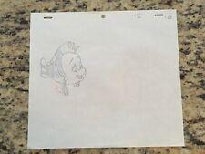 Disney Little Mermaid Flounder Production Cel Pencil Drawing