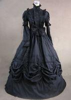 Long Sleever Lolita Victorian Ball Gown Steampunk Dress Renaissance Cosplay New