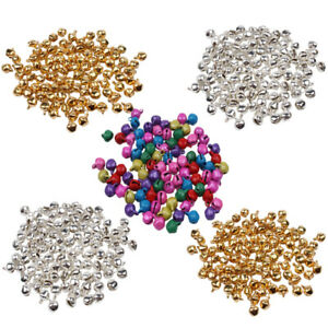 25-100Pcs/Set Small Jingle Bells Colorful Loose Beads Decoration Pendant Craft