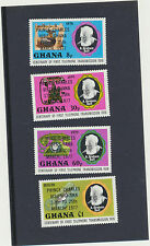 Prince Charles Visits Ghana #616-19 Mint NH Cplt Overprints 1st Telephone centen