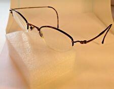 LANVIN Eyeglasses 1246 44-25-140 04 Bronze Tortoise Half Rimless France