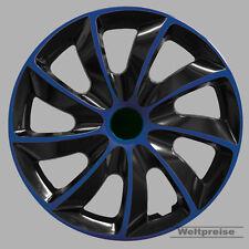 Radzierblenden 4 Stück Radkappen Quad Bicolor schwarz blau 16 Zoll