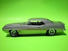 1969 pontiac firebird 1/25 built plastic model car part chrome torque thrust rim