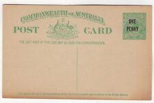 1923. 1d on 1½d Emerald-Green. King George V Sideface, Obsolete Stocks. Unused.