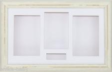 Large 3D Shabby Chic Cream Shadow Box Wedding Keepsake Cast Display Photo Frame