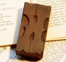 "Letter ""K"" rare decorative wood type character letterpress printing block font"