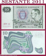 SWEDEN / SVEZIA   10 KRONOR  1977 P 52d  ;    QFDS / FDS ;    AU / UNC
