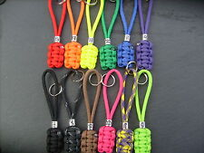 PARACORD ZIPPER PULL/KEYRING/ HANDBAG CHARM WITH A ZODIAC BEAD