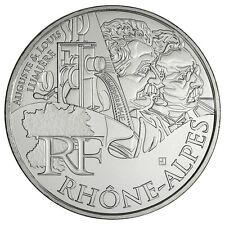 Pièce de 10 euros en argent de la région Rhône-Alpes - Euro des régions 2012 -