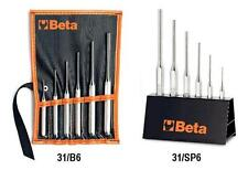 BETA TOOLS ITALY 31/SP6 SET OF 6 PIN PUNCHES 2mm - 8mm IN TOOL STAND