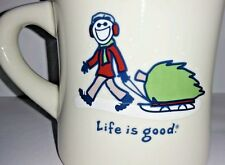 LIFE IS GOOD COFFEE MUG CUP CHRISTMAS TREE WINTER DO WHAT YOU LIKE HTF RARE TEA