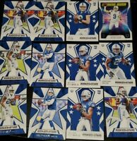 2020 Rookies & Stars TAYLOR Rookie Pittman eason Panini 12 card lot