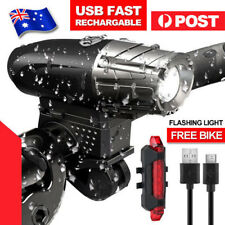 Warning Bike Bicycle Light LED USB Rechargeable Waterproof Front Rear Tail Lamp