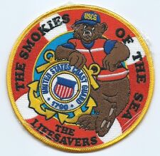 United States Coast Guard Uscg patch Smokies of the sea blue cap 4-1/2 in #1025