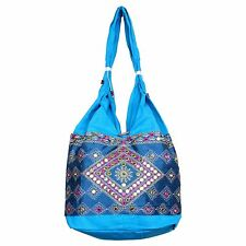 Traditional Indian Embroidery Mirror work Handbag Women Ethnic Shoulder Bag