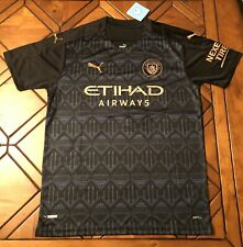 Manchester City Black Away Jersey Sterling  #7 2021 Replica - Size Mens LARGE