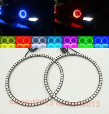 RGB Halo Rings For Jeep Wrangler JL 2018 LED Angel Eyes Retrofit Required DRL