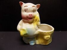 Vintage Mid-Century Hand Painted Shawnee Art Pottery Pig Planter-Very Nice!