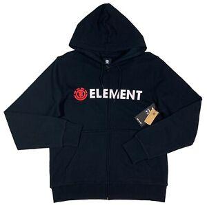 Men's ELEMENT Black Hoodie Hooded Sweatshirt M Medium NWT NEW Cool!