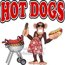 Hot Dogs DECAL (Choose Your Size) Griil Monkey Concession Food Truck Sticker