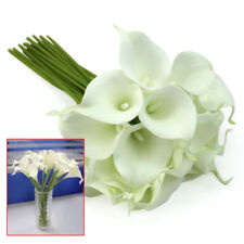 Calla Lily Wedding Bridal Party White Flower Latex Bouquet 20 Heads Bridal Posy
