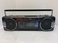 Vintage Sanyo Mini Slim Boombox Am Fm Stereo Radio M7030 Cassette Ghetto Blaster