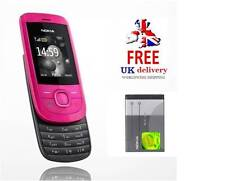 New Condition Nokia 2220 Slide Hot Pink Unlocked Camera easy to use Mobile Phone