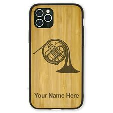 Bamboo Case Compatible with iPhone 11, 11 Pro, 11 Pro Max - French Horn