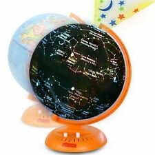 Kids Globe 3-in-1 World Globe with Illuminated Star Map and Built-in Projector